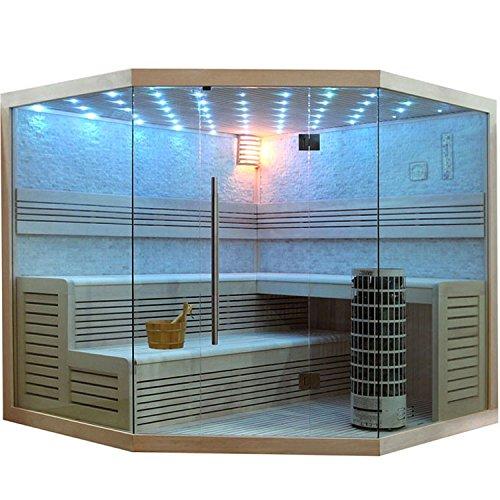 EO-SPA Sauna E1101C helle Pinie/180x180/9kW Cilindro