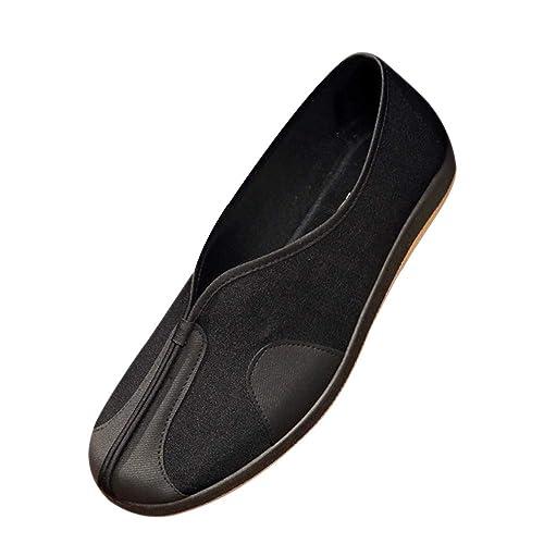 Amazon.com: DAZISEN Kung Fu Zapatos Hombres - Hanfu Tang ...