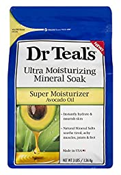 Dr. Teal\'s Ultra Moisturizing Mineral Soak Super Moisturizer with Avocado Oil, 3 Pound