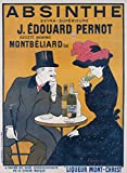 Absinthe J Edouard Pernot Vintage Poster (artist: Cappiello, Leonetto) France c. 1902 (24x36 Giclee Gallery Print, Wall Decor Travel Poster)
