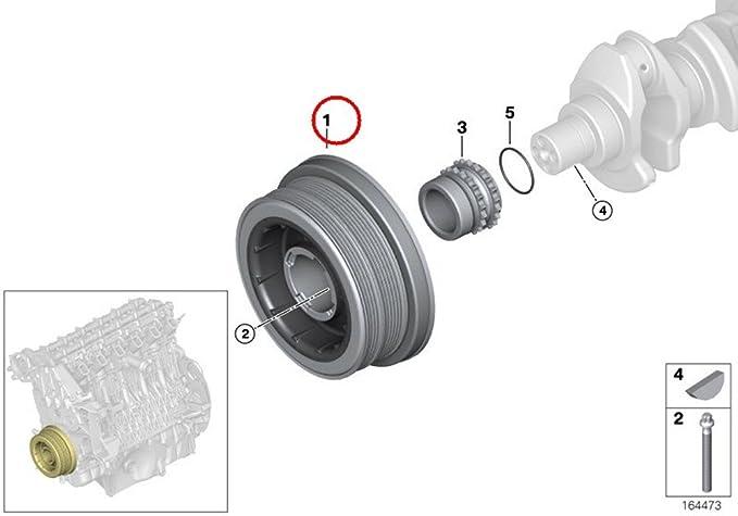 Amazon.com: Crankshaft Pulley Fits BMW X3 X5 X6 E90 E83 E67 E66 E65 E61 E60 E46 E71 2002-14: Automotive