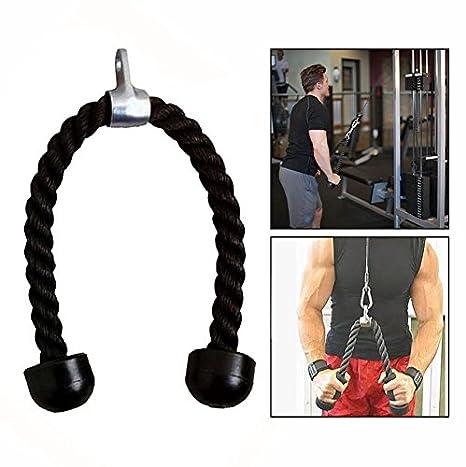 OFKPO Cuerda para Tríceps,Pull Down Cuerda Equipo, Negro: Amazon.es: Electrónica