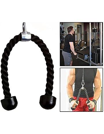 OFKPO Cuerda para Tríceps,Pull Down Cuerda Equipo, Negro