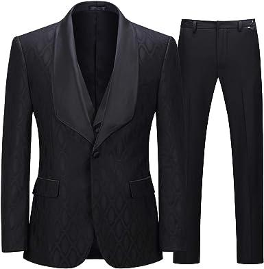 White Floral Lapel 2 Piece Suits Men/'s Wedding Suits Prom Groomsman Tuxedo Suits