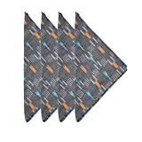 Sleeping Partners Hand Loomed Cotton Ikat Napkins (Set of 4), Grey
