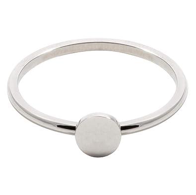 meilleure sélection 6a0f8 c305f Happiness Boutique Femmes Bague Cercle en Couleur Argent ...