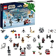 LEGO Star Wars Advent Calendar 75307 Awesome Toy Building Kit for Kids with 7 Popular Characters and 17 Mini B