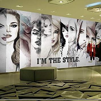 Amazon Com Custom 3d Mural 3d Personalized Fashion Hair Salon