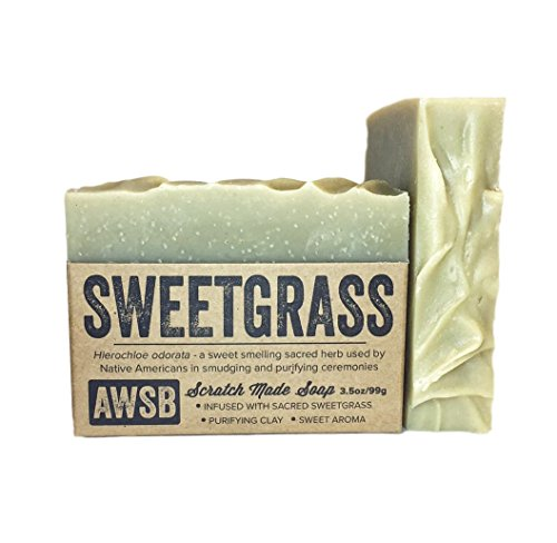 (Sweetgrass Bar Soap, All Natural, Vegan, with Organic Ingredients, Handmade by A Wild Soap Bar)