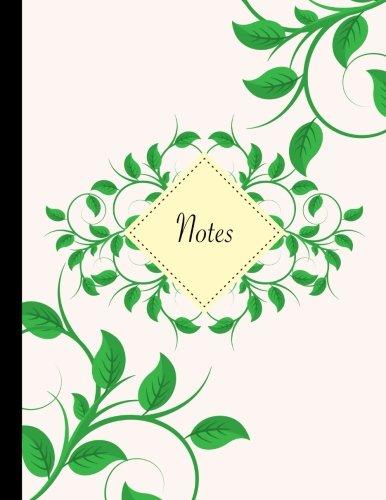 Carnet de notes A4 ligné: Carnet de notes original & fantaisie, taille de jumbo, bouquet de feuilles, belle papeterie rétro et originale (Papeterie mignonne en ligne) (Volume 1) (French Edition)
