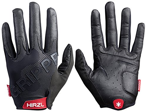 Hirzl Grippp Tour Full Finger 2.0 Super Ergonomic Fit Unisex Black Kangaroo Leather Finest Bike Gloves