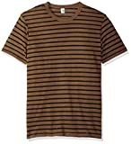 Alternative ECO Jersey Crew, Dark Olive dye Riviera Stripe, M