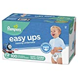 Pampers Easy Ups Pull On Disposable Training Diaper for Boys Size 5 (3T-4T), Giant Pack, 100 Count