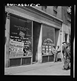 Vintography Reproduced Photo of Chicago, Illinois. Railroad Help Wanted Signs in Window of an Employment Agency Near The Union Station 1943 Delano C Jack 21a