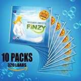 FINZY Laundry Detergent Sheets,More Efficient and Convenient than Liquid, Pods, or Pacs - Travel & Eco Friendly - Portable Individual Packages,320 loads