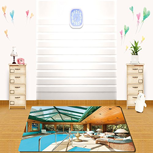 ecor Residential House Large Indoor Pool Furniture Sunrays Leisure Time Full Green Light Brown Blue (Sunray Medallion)
