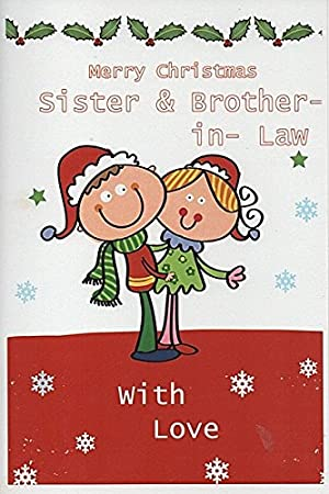 cards for everyone merry christmas sister and brother in law
