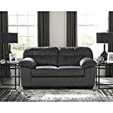 Flash Furniture Signature Design by Ashley Accrington Loveseat in Granite Microfiber
