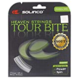 Solinco Tour Bite Soft 4-Sided Poly (Polyester) 16/16L/17/18 Gauge Tennis Racquet String Sets in Multi-Packs – Best for Spin, Control, and Durability (2-4-6-8-Packs)