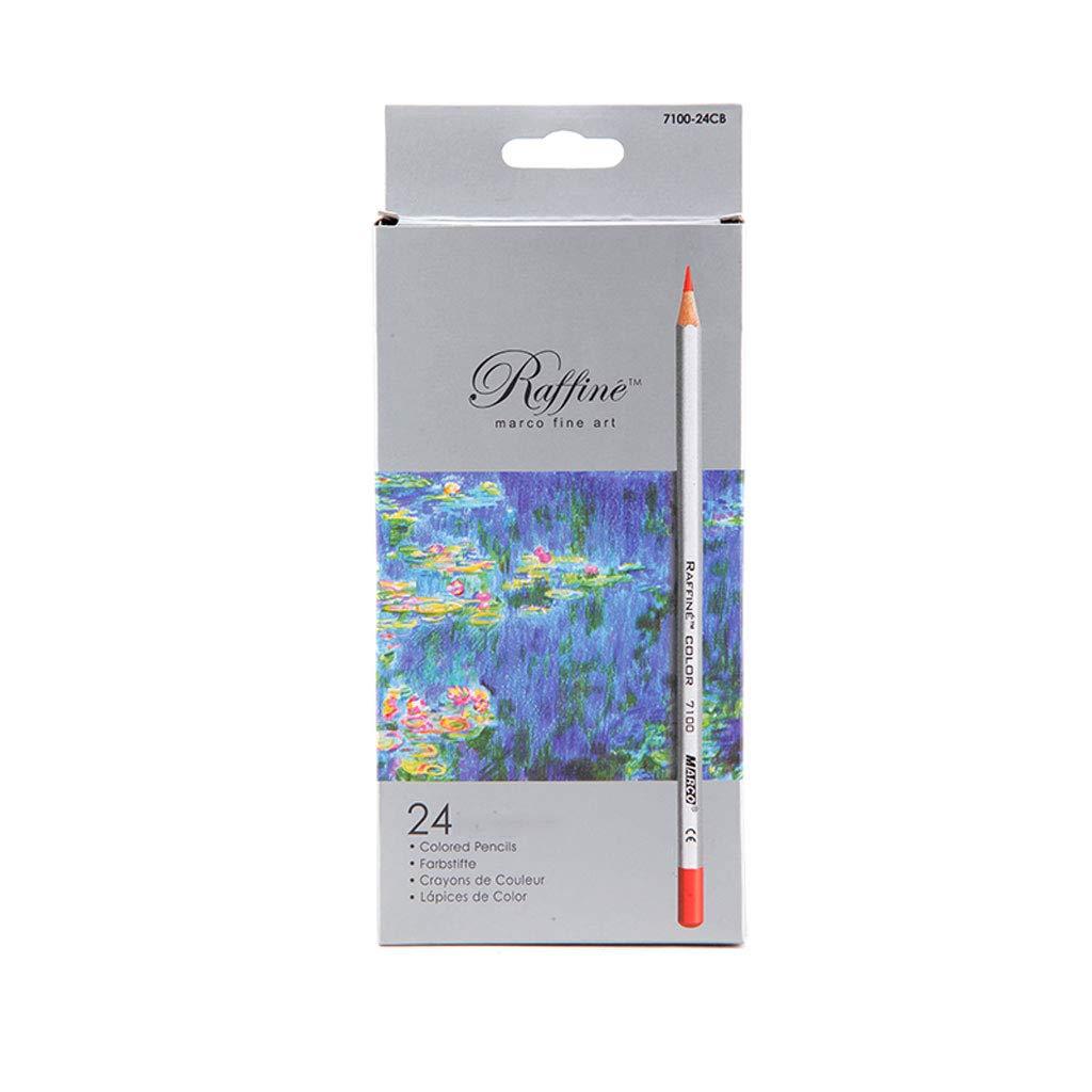 Lápices de Colores Art Design Classic Pencil Pintado a Mano 24/36/48/72 Color Oily Painting Color Pencil Classic Coloring Adecuado para Principiantes Alumnos Color Plomo Caja de Hierro (Tamaño : 72 Colors) d5e646
