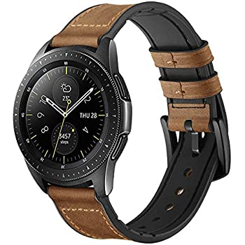 Amazon.com: LDFAS Leather Band Compatible for Samsung Galaxy ...