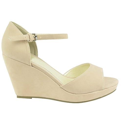 chaussures Talon Moyen Compensé Arrière Bride Mules