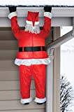 Lifesize Hanging Santa The Green Head