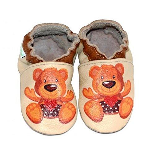 Eko-TUPTUSIE - Chaussons cuir souple TEDDY BEAR