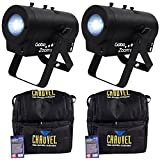 Package: (2) Chauvet DJ Gobo Zoom USB Compact Custom Gobo Projector Lights With 10 Wedding Ready Gobos + D-FI USB Ready + (2) Chauvet DJ CHS-40 Rugged Travel Bags With Dual Compartments