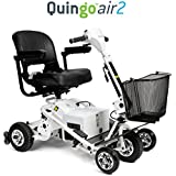 Quingo Air 2 Mobility Scooter with 5 Wheel Anti-Tip Stability System; Lightweight, Foldable, Portable, Ergonomic Design