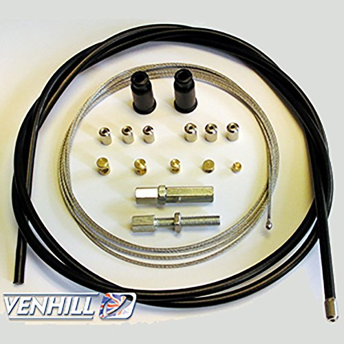 Custom Throttle - Venhill U01-4-100/A-BK Universal Motorcycle Throttle Cable Kit