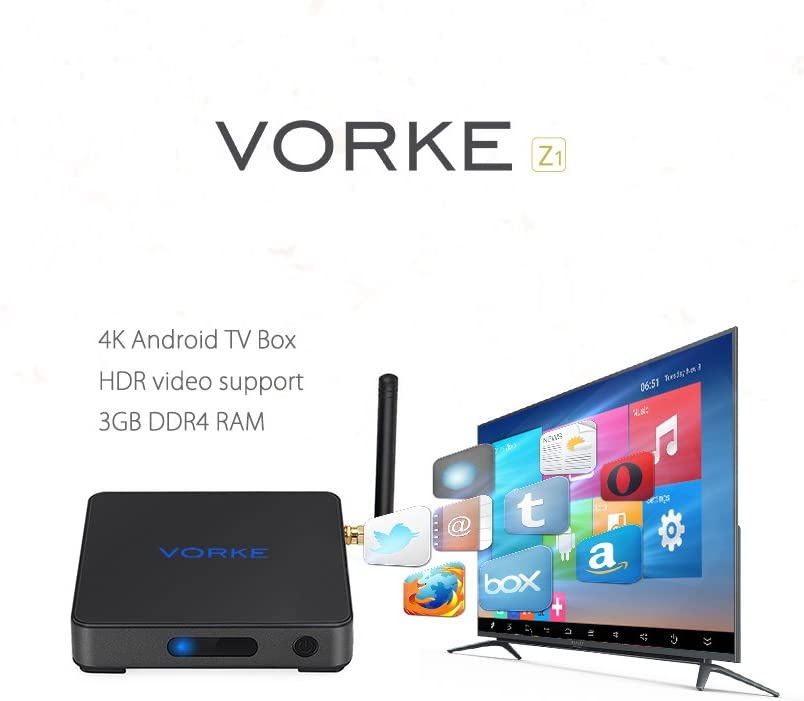 Vorke Z1 Amlogic S912 Octa Core TV Box 4K Android 6.0 Kodi 16.1 3GB/32GB 1000M Gigabit 802.11ac Wifi DLNA Bluetooth 4.0 OTA: Amazon.es: Electrónica