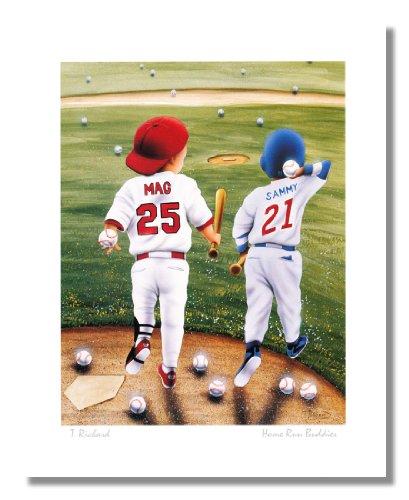 Baseball Home Run Buddies Mark McGwire Sammy Sosa Wall Picture 8x10 Art - Runs Mcgwire Mark Home