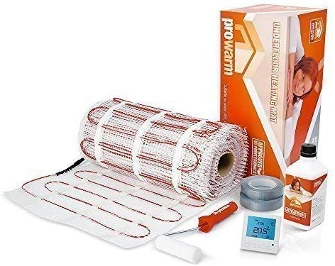 Electric underfloor Heating mat kit for Tiles 150 W//m/² /• KIT Complete /• All Sizes /& Thermostats Available 3.5m2, Thermostat Choice - ProDigital White