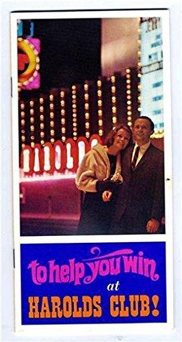 (Harold's Club Casino Gaming Guide Reno Nevada 1960's To Help You Win)