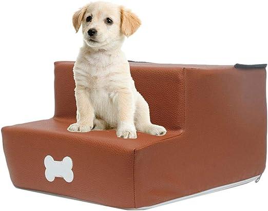 Escalera para perros Minear lavable y plegable, escalera para mascotas, escalera para perros, gato, escalera para perros, escalera para perros, 2 peldaños, piel sintética, sofá para dormir desmontable: Amazon.es: Productos para mascotas