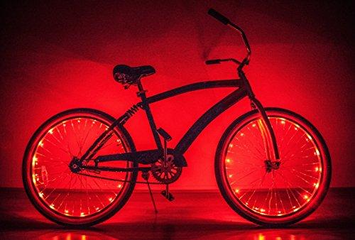 (Neon Nightlife Red LED Light Up Bike Wheel)
