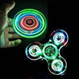 RushPanda LED Fidget Spinner Toy, High Speed Light Glow Hand Spinner for Anxiety Relief ADHD Focus (LED Spinner)