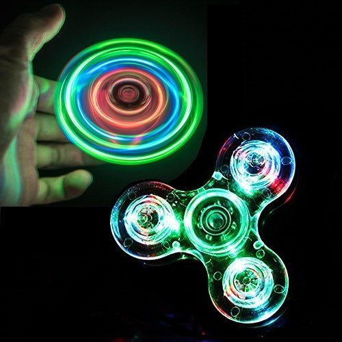 RushPanda LED Fidget Spinner Toy, High Speed Light Glow Hand Spinner for Anxiety Relief ADHD Focus (LED Spinner) Led Spinner