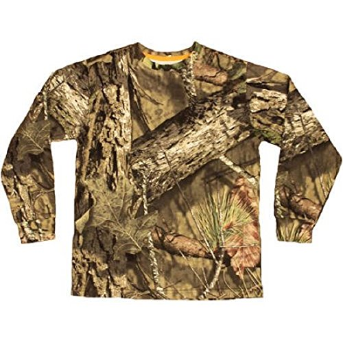 Mossy Oak Hunting Clothes - Mossy Oak Boys Long Sleeve Camo Tshirt MO Country (L 10-12)