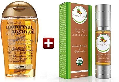PREMIUM BEARD OIL by PURELY ARGAN: Organic 100% Pure Argan Oil for Beard. Certified USDA 50ml/1.7 (Beard With Goatee)