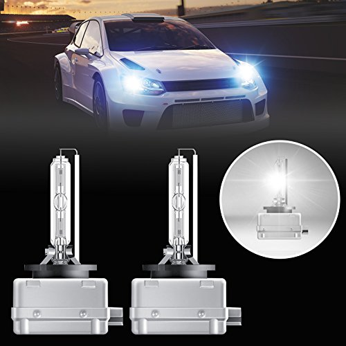 LinkStyle D1S Hid Bulb Headlight Bulb 6000K, 1 Pair D1S 6000K Xenon HID Replacement Bulb Diamond White Metal Stents Base 12V Car Headlight Lamps Head Lights 35W