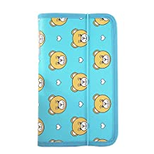 Portable Oxford Fabric Expanding File Pockets File Folders Wallets Bear Blue