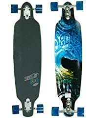 "Wheel colors may vary. The Sector 9 Fractal puts everything into perspective as its Sidewinder truck setup keeps you turning on a dime and wrapping around corners with the greatest of ease. The Fractal Longboard is a 36"" cruiser that uses it..."