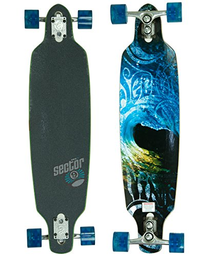 Sector 9 Aperture Sidewinder Drop Through Downhill/Cruiser Freeride Complete Longboard 36