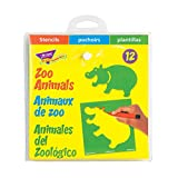 TREND enterprises, Inc. Zoo Animals (EN/SP/FR) Stencils