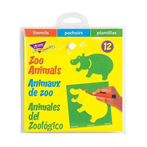 Trend Enterprises Zoo Animals Stencils (T-65005)