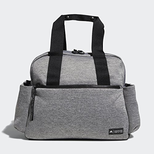 adidas Sport to Street Premium Tote Bag, Jersey Knit Grey/Black, One Size