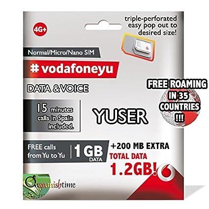 Amazon.com: Vodafone Yu Hazte yuser España & Europa Voz (15 ...