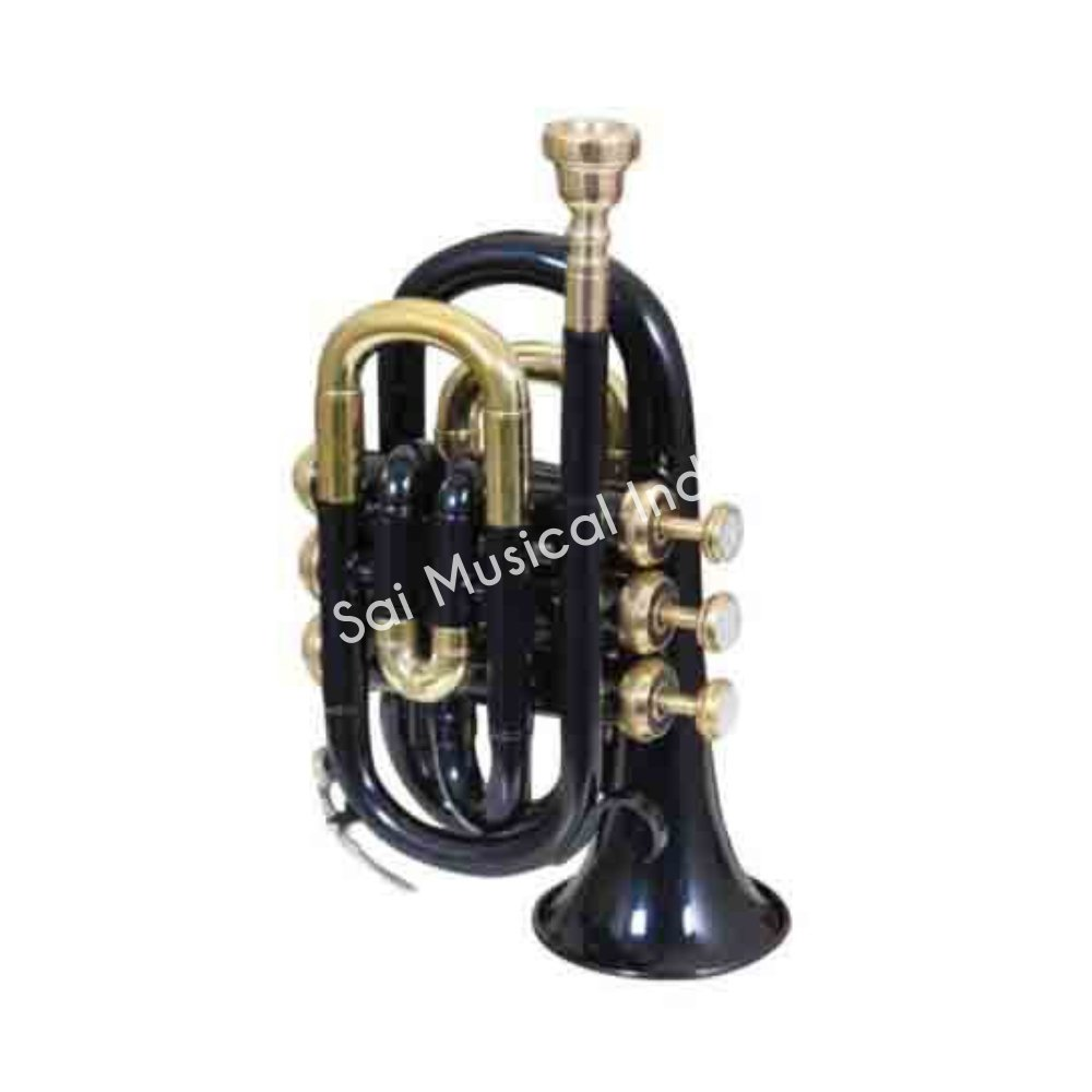 Sai Musical India PoTr-05, Pocket Trumpet, Bb, Black